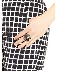 Oscar de la Renta | Black Diamond Crystal Baguette Ring | Lyst