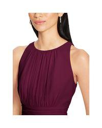 Ralph Lauren - Purple Shirred Georgette Dress - Lyst