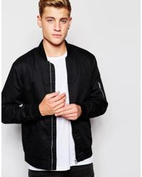 Jack & Jones | Black Bomber Jacket for Men | Lyst