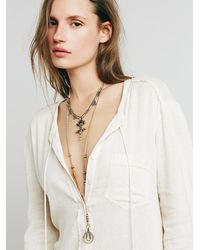 Free People - Metallic Womens Hi Lo Collar Pendant - Lyst