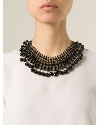 Rosantica | Black Beaded Collar Necklace | Lyst