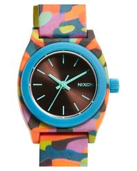 Nixon | Blue 'the Small Time Teller' Round Watch | Lyst