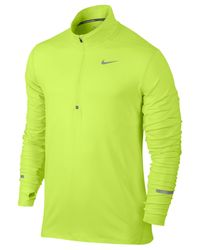 Nike - Green Men's Element Dri-fit Half-zip Running Shirt for Men - Lyst