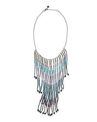 Nakamol | Blue Beaded Cascading Fringe Bib Necklace | Lyst
