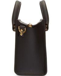 Sophie Hulme - Black Saddle Leather Mini Box Tote Bag - Lyst