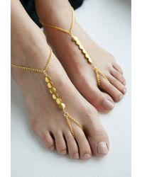 Forever 21 | Metallic House Of Blaise Foot Chain Set | Lyst