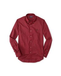 Polo Ralph Lauren - Red Slim-fit Checked Twill Shirt for Men - Lyst