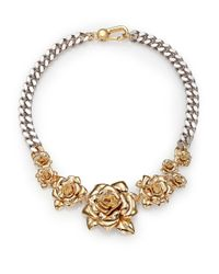 Marc By Marc Jacobs | Metallic Jerrie Rose Statement Necklace | Lyst