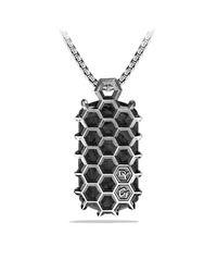 David Yurman | Black Forged Carbon Honey Comb Tag In Silver for Men | Lyst