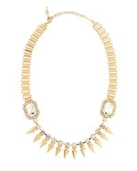 Fragments - Metallic Crystal Spike Station Necklace - Lyst