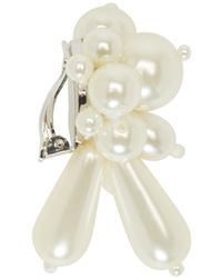 Simone Rocha - White Pearl Cluster Clip_on Earrings - Lyst