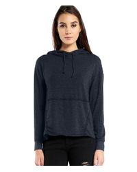 Michael Stars | Blue French Terry Hooded Sweatshirt With Pocket | Lyst