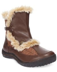 Jambu | Brown Eskimo Women Round Toe Leather Winter Boot | Lyst