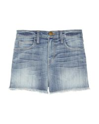 Current/Elliott - Blue The Boyfriend Rolled Denim Shorts - Lyst