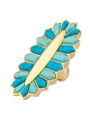 Noir Jewelry - Blue Setting Sun Ring - Lyst