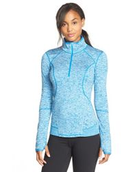 Zella - Blue 'quick Quick' Half Zip Jacket - Lyst