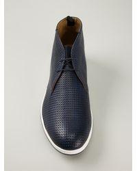Giorgio Armani - Blue Desert Boots for Men - Lyst
