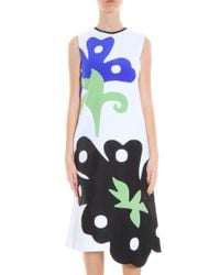 Victoria, Victoria Beckham - Multicolor Abstract Dress - Lyst