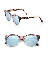 Cutler & Gross - Brown Half-rim 52mm Cat's-eye Sunglasses - Lyst