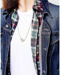 ASOS - Metallic Star Pendant Necklace for Men - Lyst