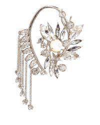 Givenchy - Metallic Silvertone Crystal Set Ear Cuff - Lyst