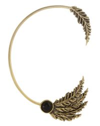 Pamela Love | Metallic Feather Goldtone Onyx Ear Cuff | Lyst