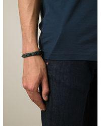Valentino - Green 'Rockstud' Bracelet for Men - Lyst