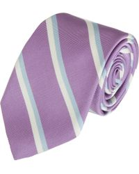 Michael Bastian - Purple Double Rep Tie for Men - Lyst
