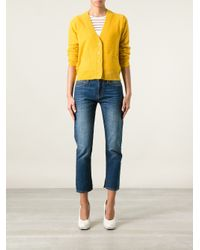 Chloé - Orange V-Neck Cardigan - Lyst