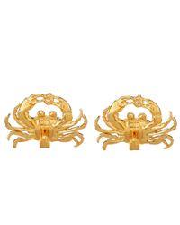 Alex Monroe - Metallic Gold-plated Diamond Crab Earrings - Lyst