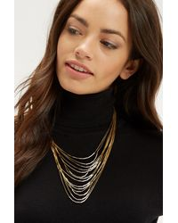 Oasis - Metallic Statement Strand Necklace - Lyst