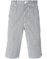 Comme des Garçons - White Striped Bermuda Shorts for Men - Lyst