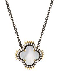 Freida Rothman | Metallic Two-tone Clover Spike Pendant Necklace | Lyst
