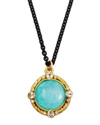 Armenta - Blue Turquoise Moonstone Pendant Necklace for Men - Lyst