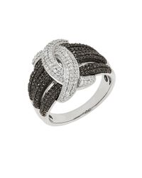 Lord & Taylor - Black Sterling Silver Braided Diamond Ring, 0.75 Tcw - Lyst