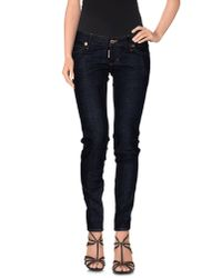 DSquared² | Blue Denim Trousers | Lyst