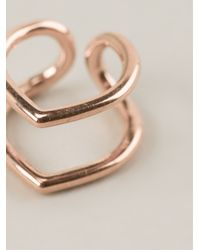 Coops London | Metallic Small Pointed Double Hoop Squeeze On Earrings | Lyst