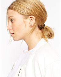 ASOS | Metallic Sterling Silver Solid Bar Earrings | Lyst