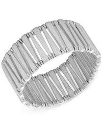 Lucky Brand - Metallic Silver-tone Bar Stretch Bracelet - Lyst