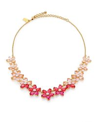 kate spade new york - Pink Ombre Bouquet Small Necklace - Lyst