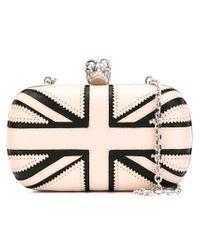 Alexander McQueen - Pink 'britannia Skull' Box Clutch With Strap - Lyst