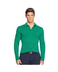 Ralph Lauren | Green Tailored-fit Stretch-mesh Polo for Men | Lyst