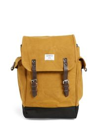 Sandqvist - Natural 'bob' Waxed Canvas Backpack for Men - Lyst