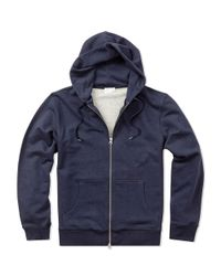 Sunspel | Blue Men's Loopback Cotton Hoody With Zip Front for Men | Lyst