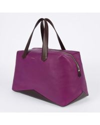 Paul Smith | Purple Leather Holdall for Men | Lyst