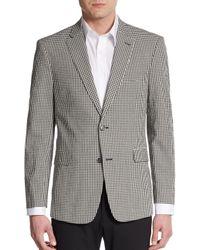 Tommy Hilfiger | Black Regular-fit Gingham-print Cotton Sportcoat for Men | Lyst