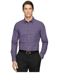 Calvin Klein - Purple Multi-Check Gingham Shirt for Men - Lyst