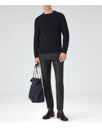 Reiss | Blue Tale Chunky Cable Knit Jumper for Men | Lyst