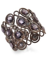 INC International Concepts | Brown Chocolate-Tone Large Stone Stretch Bracelet | Lyst