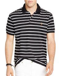 Polo Ralph Lauren | Black Striped Pima Soft-touch Polo Shirt for Men | Lyst